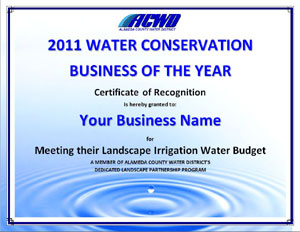 Water efficiency award
